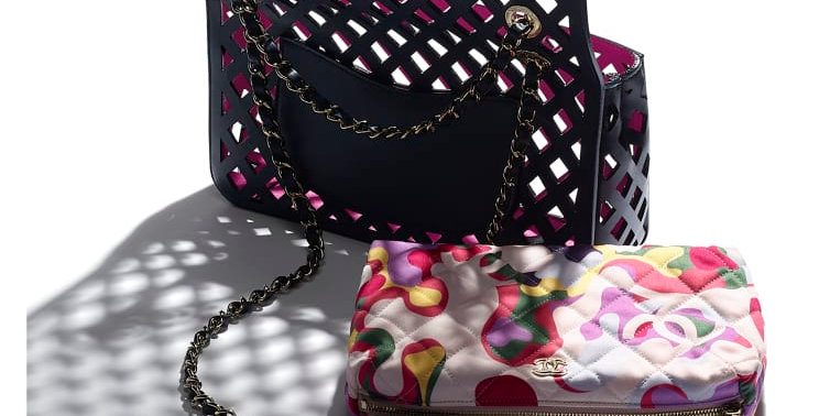 Chanel Large Flap Bag Perforated Calfskin