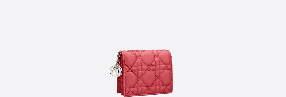 Dior Lady Dior medium calfskin wallet