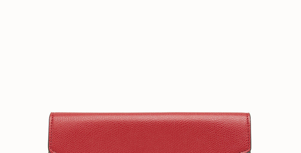 Fendi Continental Red (or yellow, black, pink) leather wallet