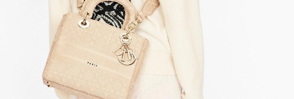 Dior Lady D-Lite Medium Bag Cannage Embroidery