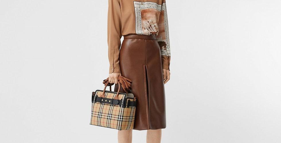Burberry Small Vintage Check Triple Stud Belt Bag