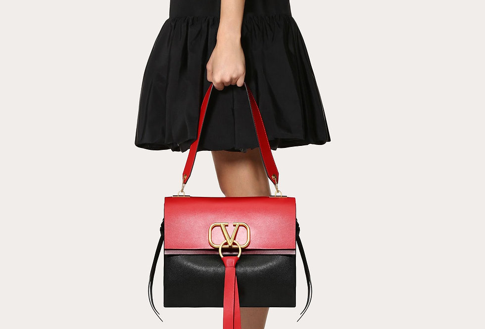 Valentino VRing medium smooth calfskin shoulder bag