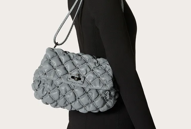 Valentino SpikeMe Medium Nappa Shoulder Bag