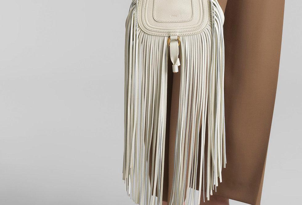Chloé Marcie Mini handbag in multi-fringe shiny calfskin & small grain calfskin