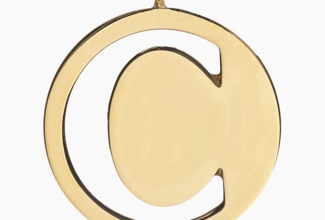 Chloé Alphabet bag pendant