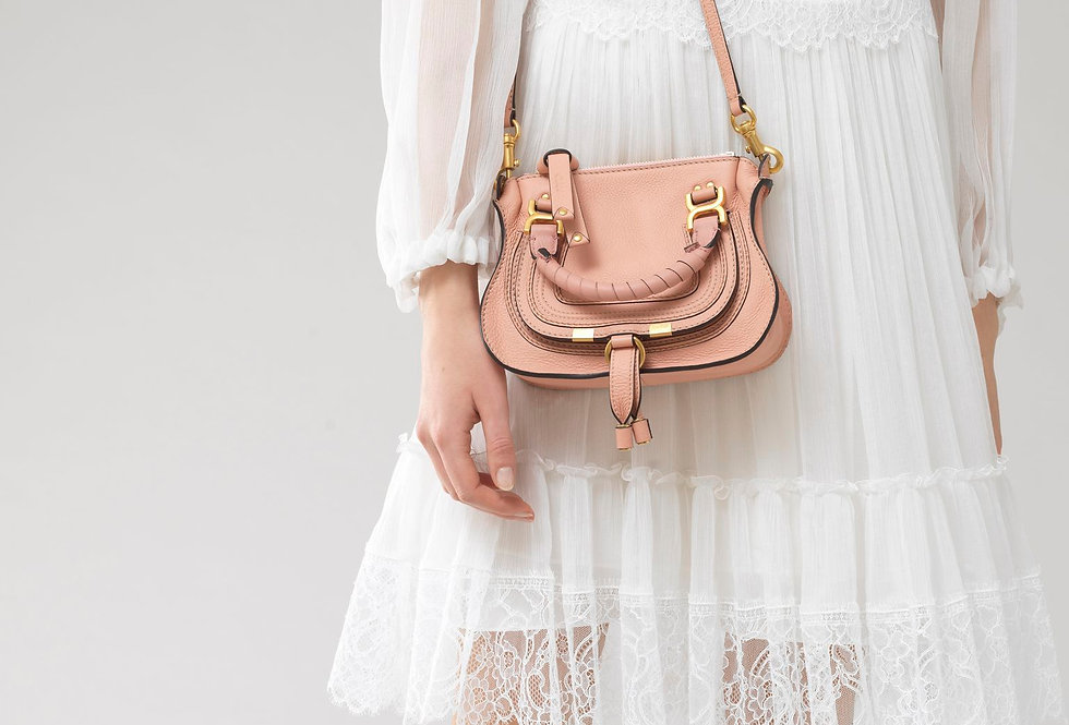 Chloé Marcie Mini handbag in small grain calfskin