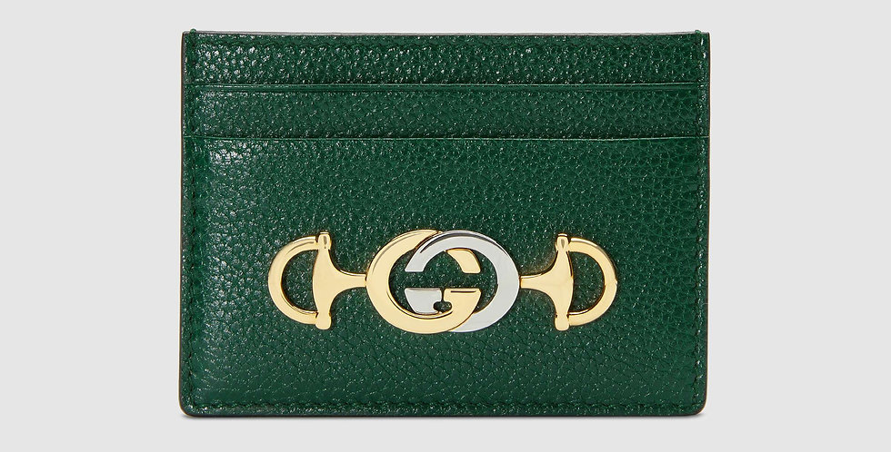 Gucci Zumi grainy leather card case
