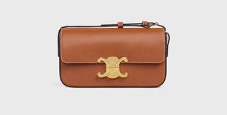 Céline Triomphe Shoulder Bag in natural Calfskin Tan