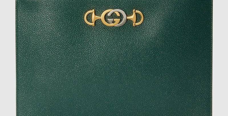 Gucci Zumi Grainy Leather Pouch