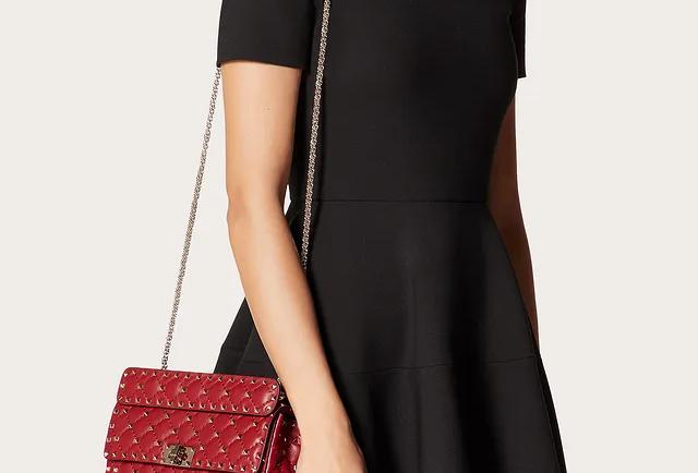 Valentino Medium Rockstud Spike Nappa Leather Bag