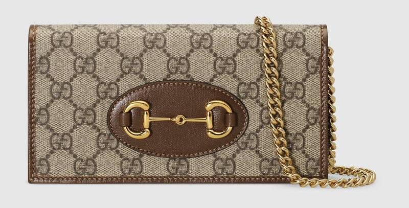 Gucci GG Supreme Horsebit 1955 Wallet on Chain