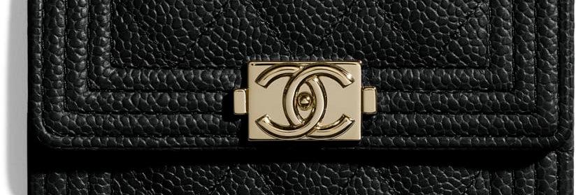 Chanel Boy Flap Card Holder