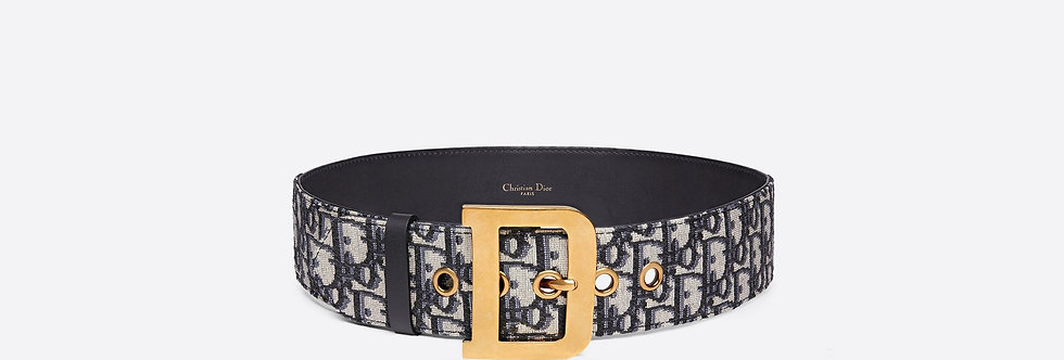 Dior Diorquake Oblique canvas belt