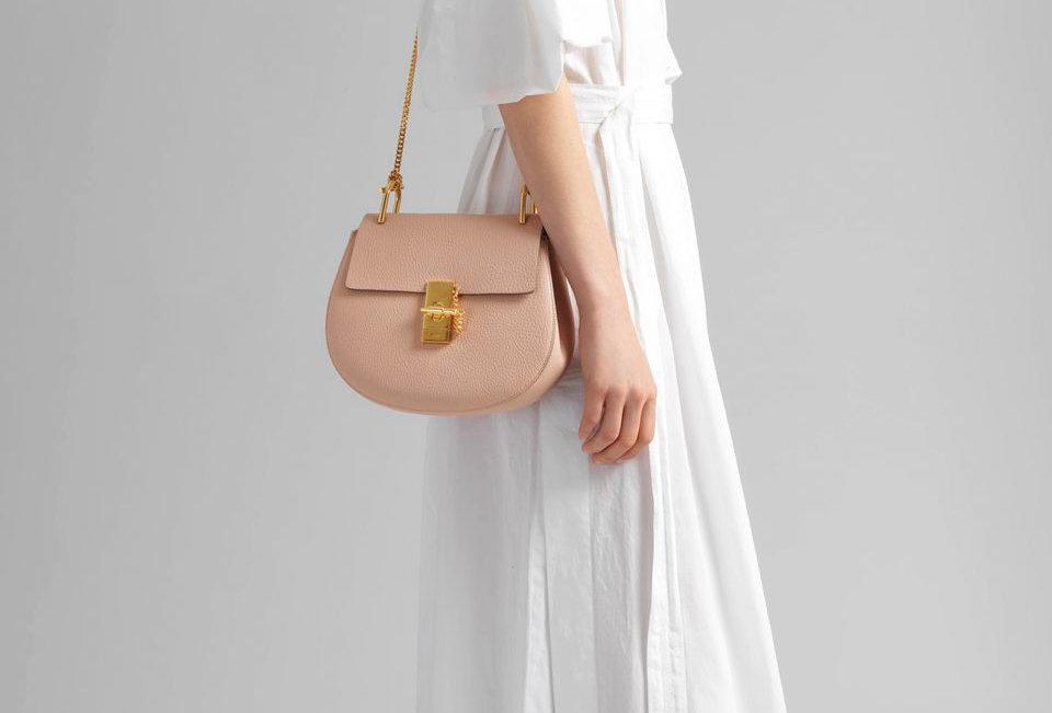 Chloé Drew Small shoulder bag in grain lambskin