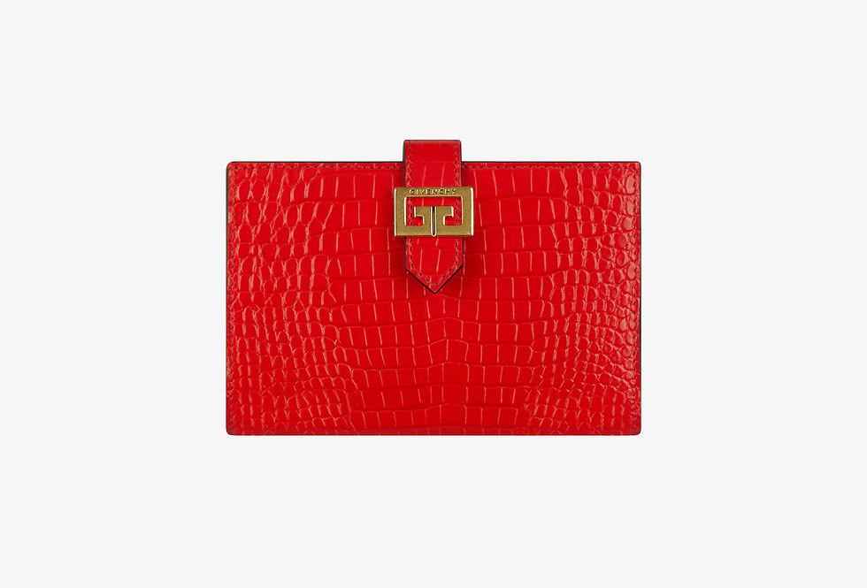 Givenchy GV3 wallet in crocodile-effect leather