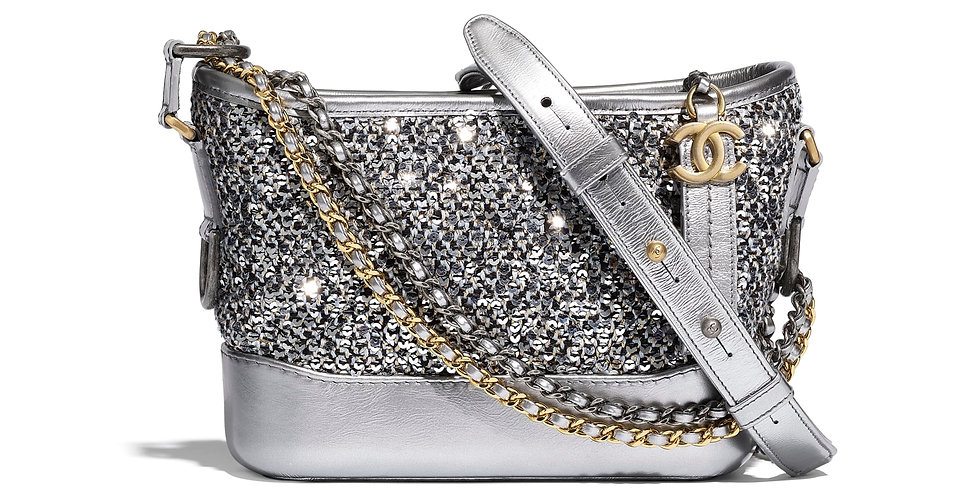 Chanel Gabrielle Small Hobo Bag in Tweed, Sequins