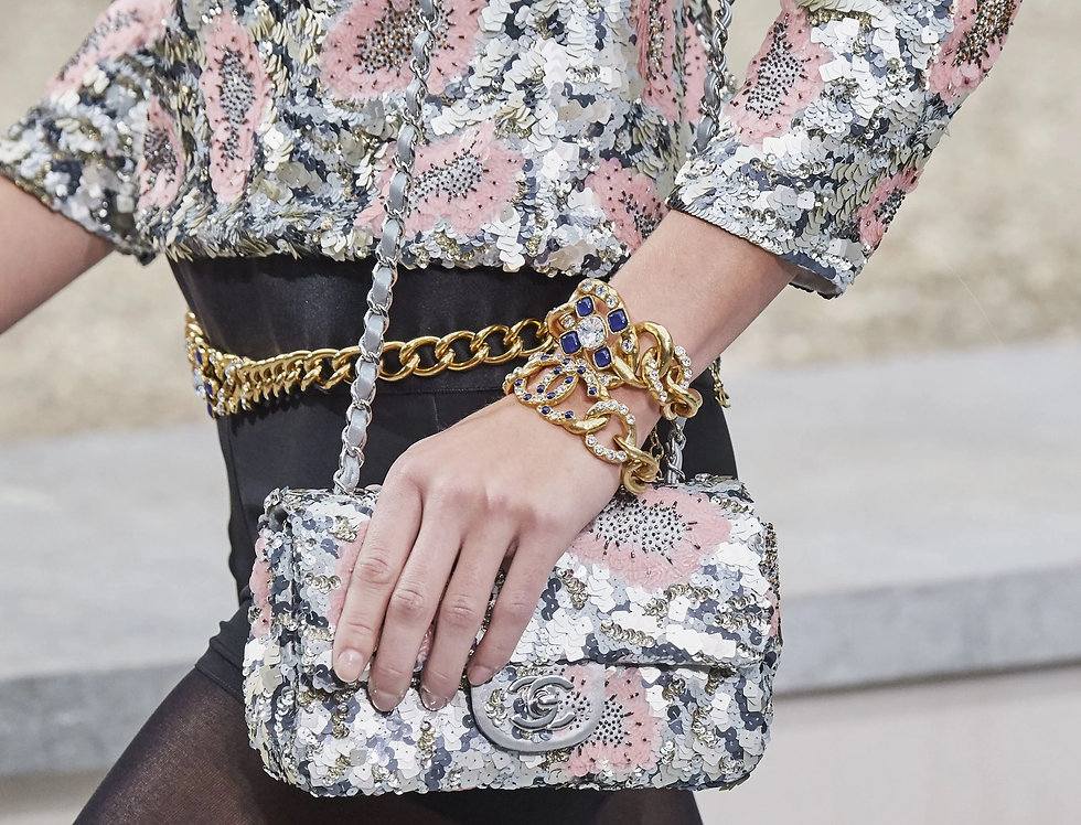 Chanel Mini Flap Bag Sequins