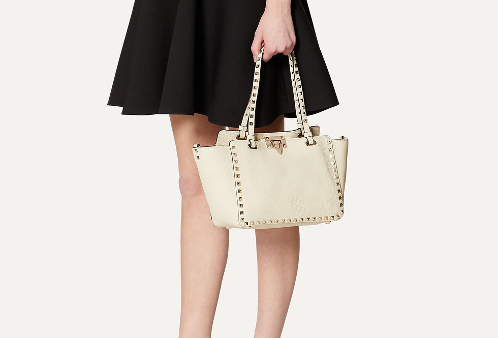 Valentino Small Rockstud Grain Calfskin leather bag