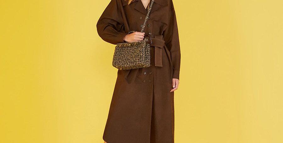 Fendi Peekaboo Iconic Mini Jacquard Fabric Interlace Bag