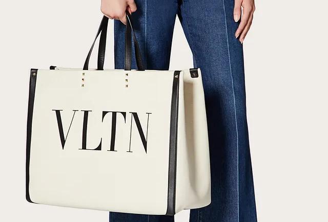 Valentino VLTN Canvas Shopping Bag
