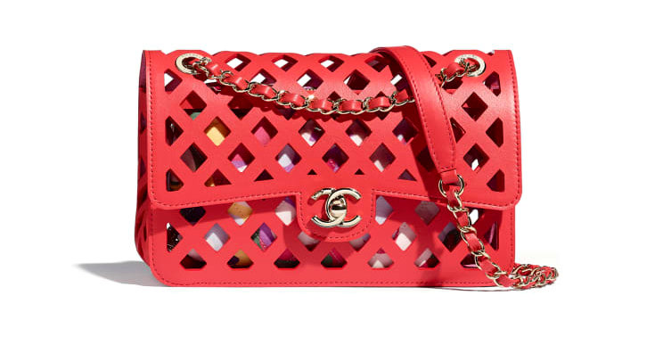 Chanel Perforated Flap Bag in Red
