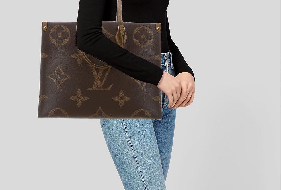 Louis Vuitton Reverse Monogram Onthego GM Tote Bag