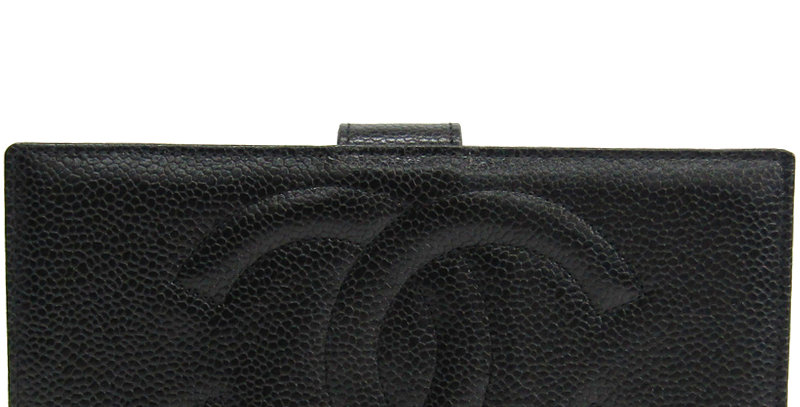Chanel Black Leather CC Bifold Wallet