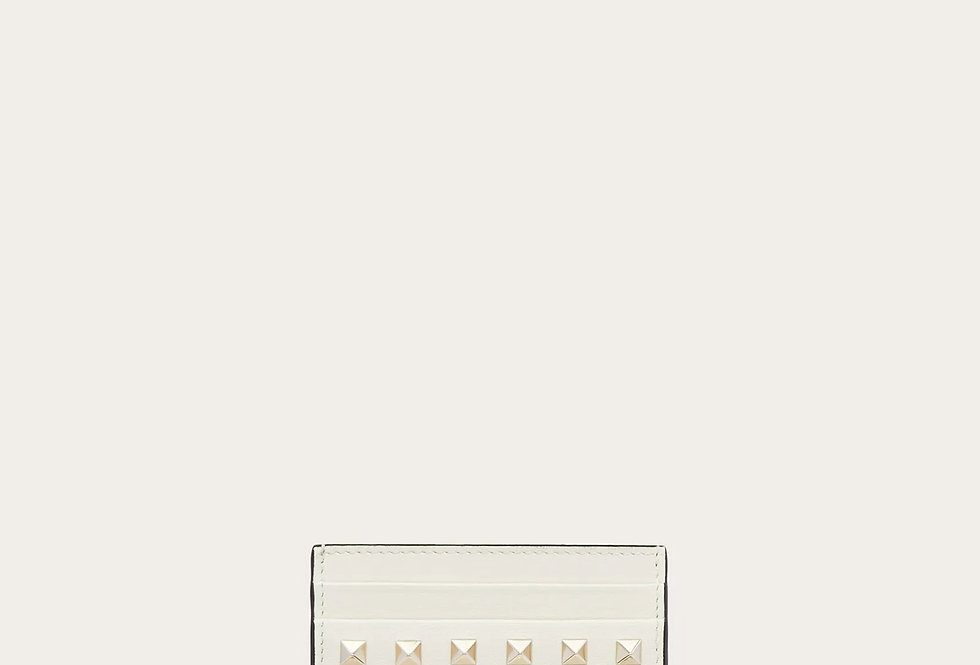Valentino Rockstud Calfskin Cardholder