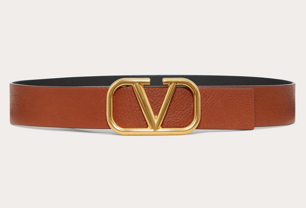 Valentino VLogo 4 cm suede leather belt