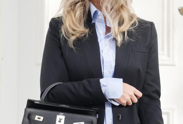 Hermès Kelly Epsom Sellier Palladium Black Leather Shoulder Bag