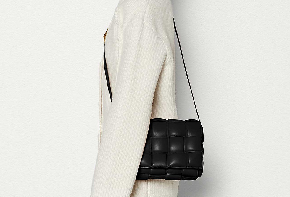 Bottega Veneta Padded Cassette Bag Black Lambskin
