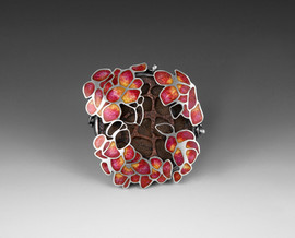 From Death Came Life 2009 sterling silver, copper, enamel, beeswax, hydrangea flowers