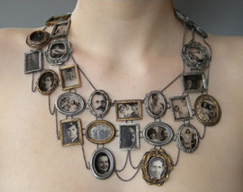 I Am Who They Were 2011 sterling silver, bronze, microscope glass, decals