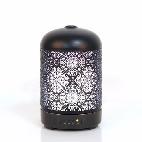 Mandala, nébulisateur ultrasonique, fer peint noir