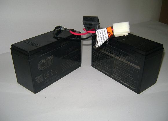 MX350/MX400 Battery w/Fuse(2 12V/7AH Single Con)
