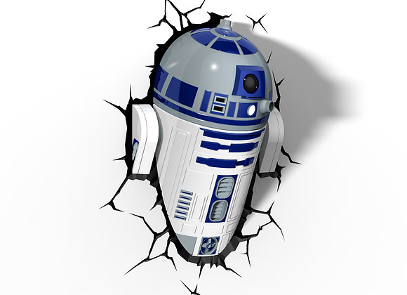 Lámpara de pared 3D Star Wars / R2-D2