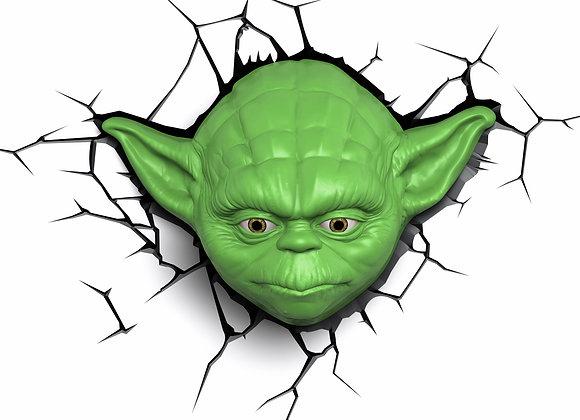 Lámpara de pared 3D Star Wars / Yoda
