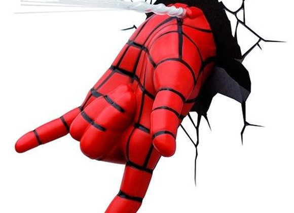 Lámpara de pared 3D Marvel/ Mano Spiderman