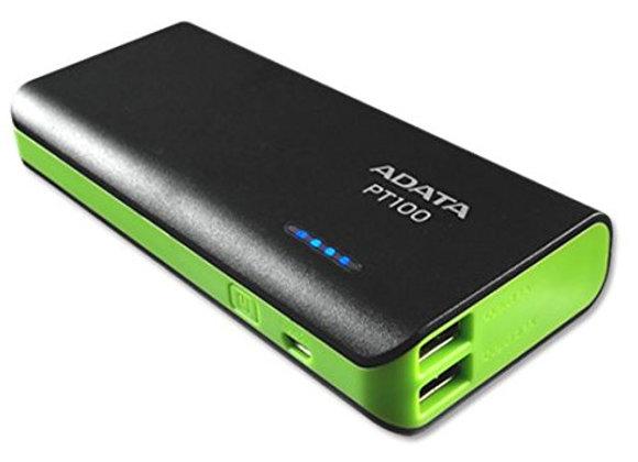 ADATA APT100 Batería de 10000 mah, negro