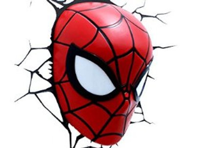 Lámpara  de pared 3D Marvel/ Mascara Spiderman