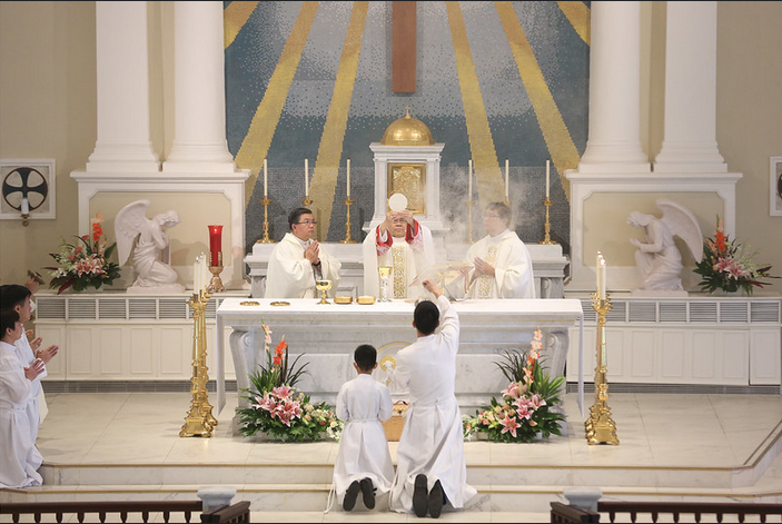 Mass Coronavirus Broadcast Radio Eucharistic Celebration Singapore HK