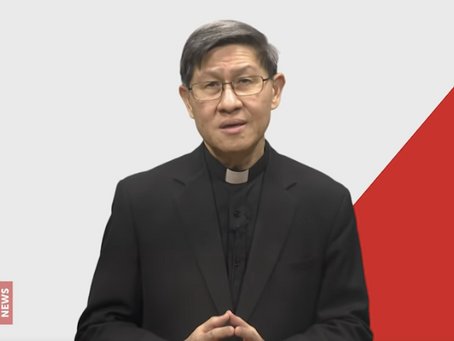 CARDINAL TAGLE THANKS COVID-19 HEROES; Appeals for Hope, Charity