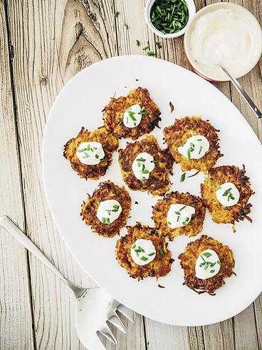 Root Vegetable Latkes|Pecan-Date Chutney|everydayhappyfoods\#everydayhappyfoods