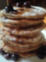 Keto pancake with blueberries