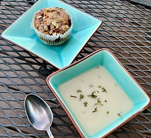 Strawberry Muffins and Whie bean soup 2