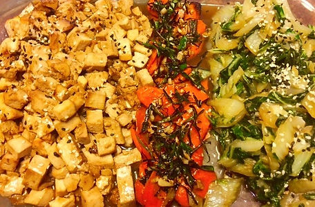 Light and healthy soy glazed tofu and bok choy stir fry