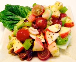 Waldorf Salad with Mango Poppyseed Dressing