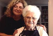 Susan and Rita making Charoset Erev Pesa