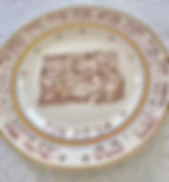 Antique French Seder Plate