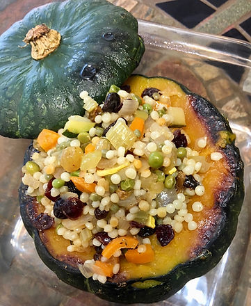 Buttercup Squash stuffed with Couscous Pilaf